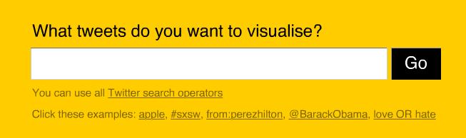 visible tweets search box